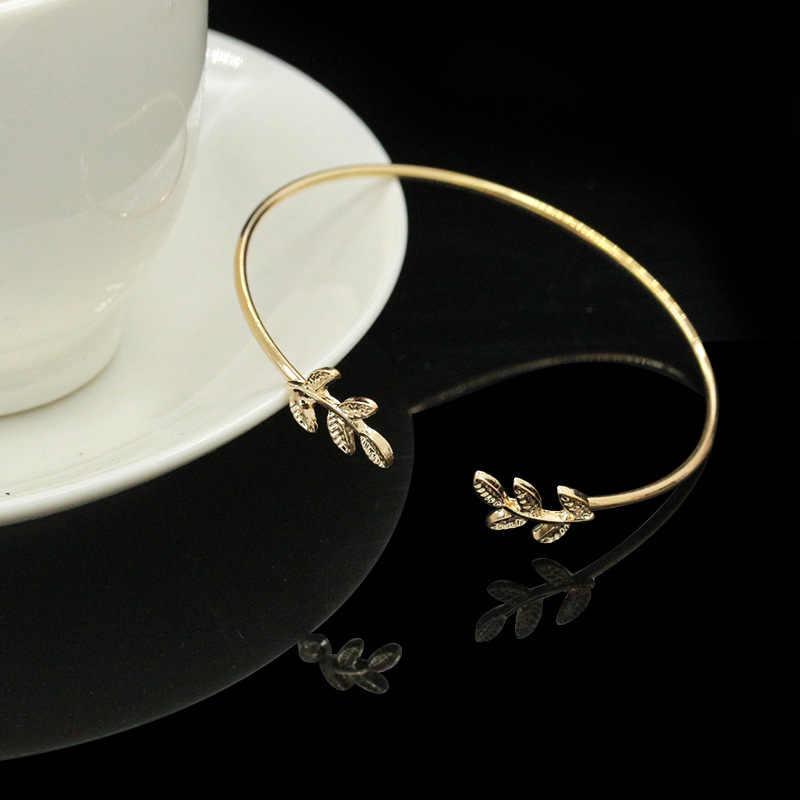 Ювелирные изделия из нержавеющей стали браслеты для женщин простой золотой лист браслет лучшие друзья навсегда подружки невесты подарки Pulseras Симпатичные Armbanden