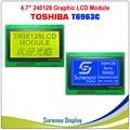 240128 240*128 Графический матричный ЖК-модуль дисплей экран Сенсорная панель встроенный T6963C контроллер желтый зеленый синий с подсветкой