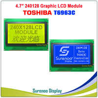 240128 240*128 Graphic Matrix LCD Module Display Screen Touch Panel build-in T6963C Controller Yellow Green Blue with Backlight