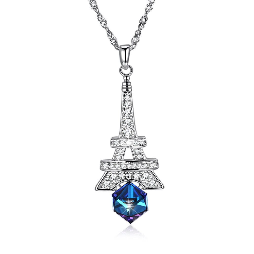 INALIS Crystals from Swarovski Jewelry Tower Crystal Necklaces Sterling Silver Necklace For Women Wedding Jewelry New Design