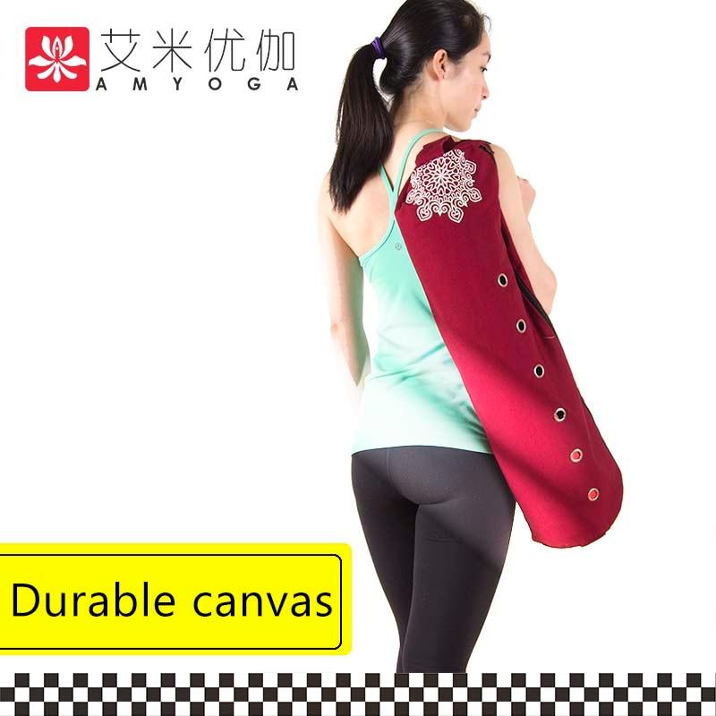 kanvas tahan lama katun yoga mat dengan pembukaan ritsleting besar mudah memuat tikar pengiriman gratis