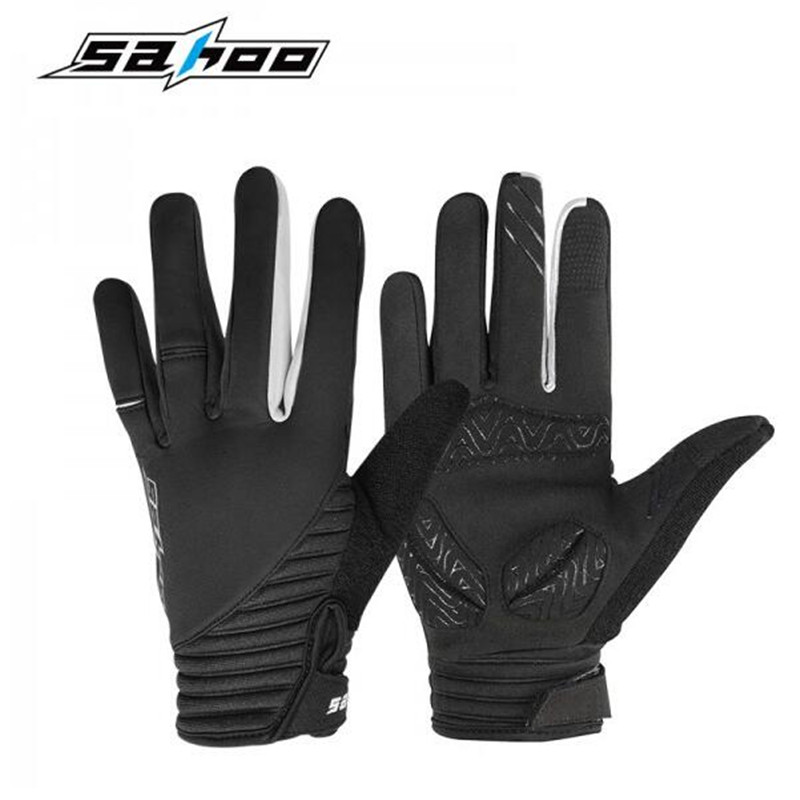 SAHOO Outdoor Sports Hiking Winter Bicycle Bike Cycling Gloves For Men Women Full Finger Screen Touch Wind Proof Warm Gloves