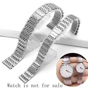 Image 3 - Watch accessories ladies stainless steel strap For Longines stainless steel strap mens sports waterproof silver strap 13mm 18mm
