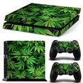 Deixar a pele para adesivos de vinil ps4 verde para sony playstation 4 adesivo de pele de console e controlador etiqueta para jogar station4