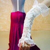 RSG22 Reale Su ordine Manichetta Da Sposa Senza Dita Opera Lungo Guanto Bianco
