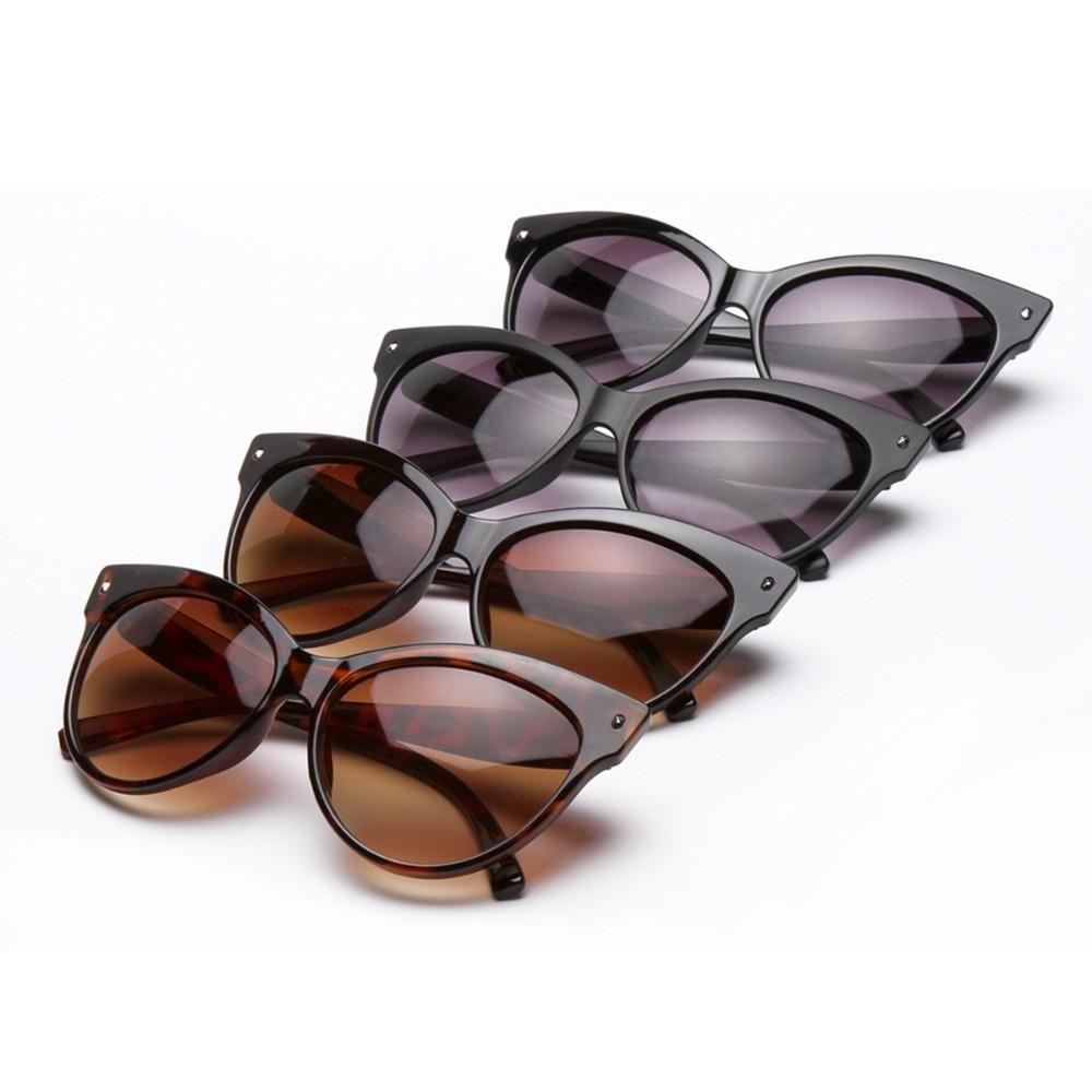 Women Fashion Cat Eye Style Sunglasses Lightweight Rivet Sun Glasses Eyewear With UV400 Protection