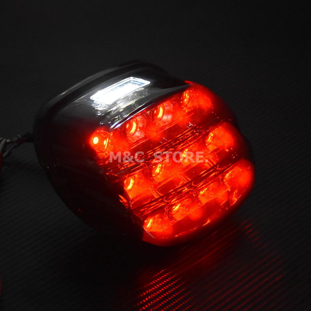 cheapest LED Brake Tail Light For Harley Dyna Fat Boy FLSTF Night Train FXSTB Softail Sportster Road King Electra Glide Road Glide