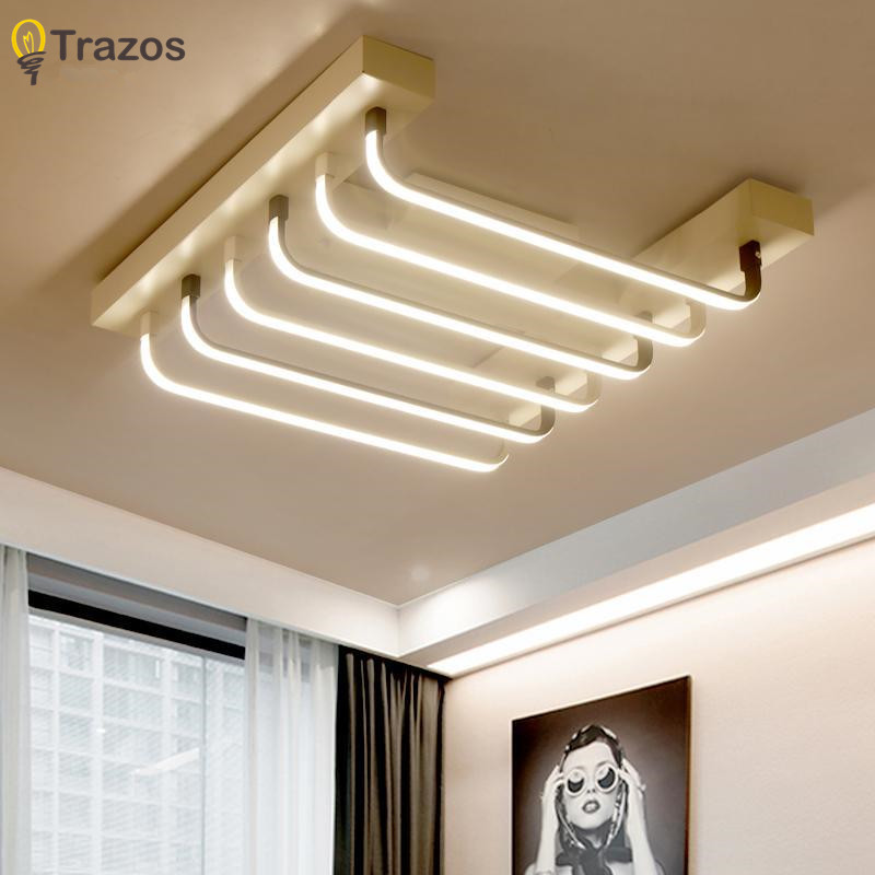 Long strip Luminescence finished chandeliers LED modern chandelier lamp for living room acrylic Lampara de techo indoor Lighting modern led acrylic ceiling lights for parlor lampada led hotel hall led strip acrylic led strip indoor lighting luz de techo
