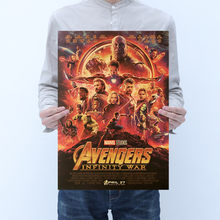 Marvel Avengers 4 Endgame Figures Vintage Movie Posters Toys 2019 New Marvel Avengers Superhero Figuras Toys Posters Home Decor(China)