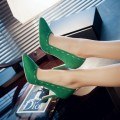2016 single shoes small wedding shoes brief 32 pointed toe high-heeled 33 all-match plus size 40 - 43 comfortable green bridal