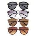 Atacado de Moda Venda Quente 1 Pcs 2016 Sexy Retro Unissex óculos de Sol Estilo de Seta Óculos de Metal Moldura Redonda óculos de Sol Frete Grátis