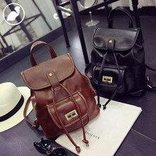 ETONWEAG New 2016 men famous brands Italian leather hasp preppy style school bags mini casual laptop travel bags brown backpacks
