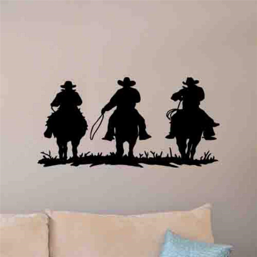Cowboy wall decal movie bedroom sticker mural print Art Decor Home Decor Removable Vinyl Nursery Kids Room Wall Sticker MY236 image