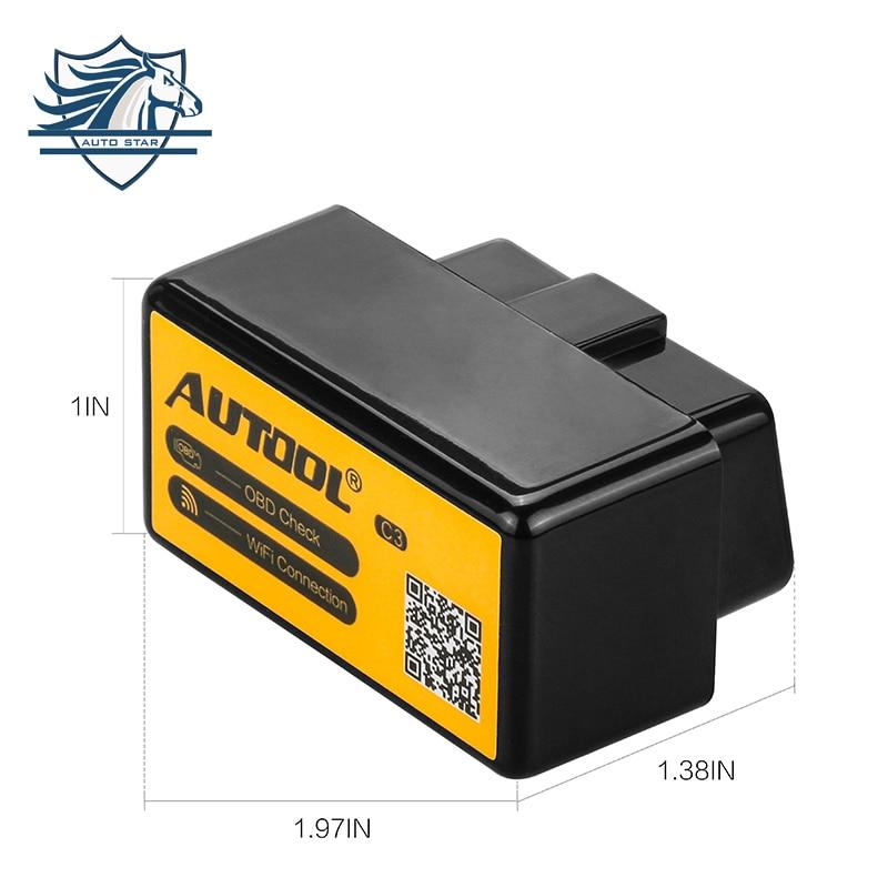 AUTOOL C3 WiFi ELM327 V1.5 OBD2 Car Diagnostic Scan Tool Per iPhone iPad iPod Con PIC18F25K80 Chip