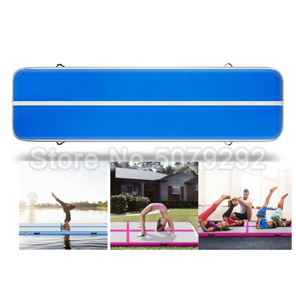 Tapis gonflable extérieur bleu de rebond de longueur du plancher d'air 4M pour le Taekwondo offre spéciale tapis d'entraînement avec la pompe culbutant le tapis pour l'usage à la maison