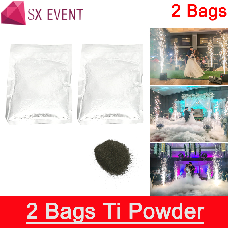 Free shipping 2 bags Titanium powder special effect for cold pyrotechnics fountain machine consumable material цена