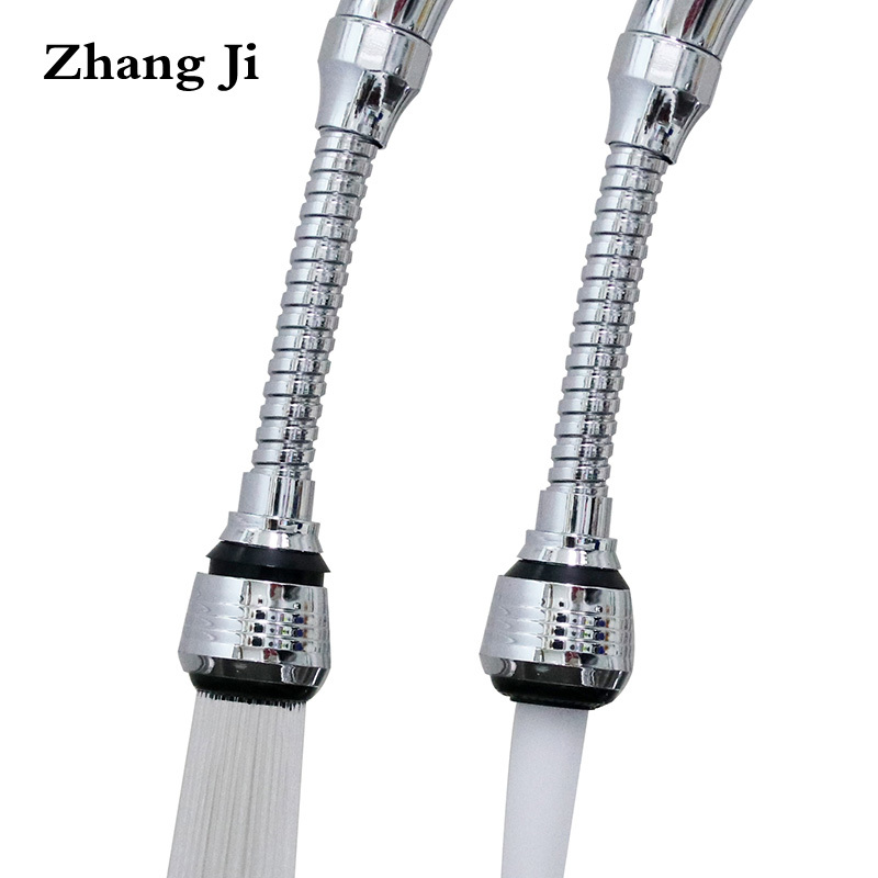 Zhangji Extender Faucet Aerator Kitchen Extended Sprinkler 360 Degree Swivel Bubbler Filter Nozzle Flexible Tap Aerators Shower