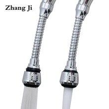 Zhangji Extender Faucet Aerator Kitchen Extended Sprinkler 360 Degree Swivel Bubbler Filter Nozzle Flexible Tap Aerators Shower