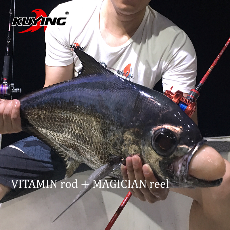 KUYING VITAMIN SEA 1 Section 2.04m Carbon Spinning Casting Lure Slow Jigging Fishing Rod Stick Cane FUJI Rotate Helical Rings free shipping by eems 2 10m kuying spinning fishing rod sea rod powerful bait casting carbon spining super hard fishing lure rod
