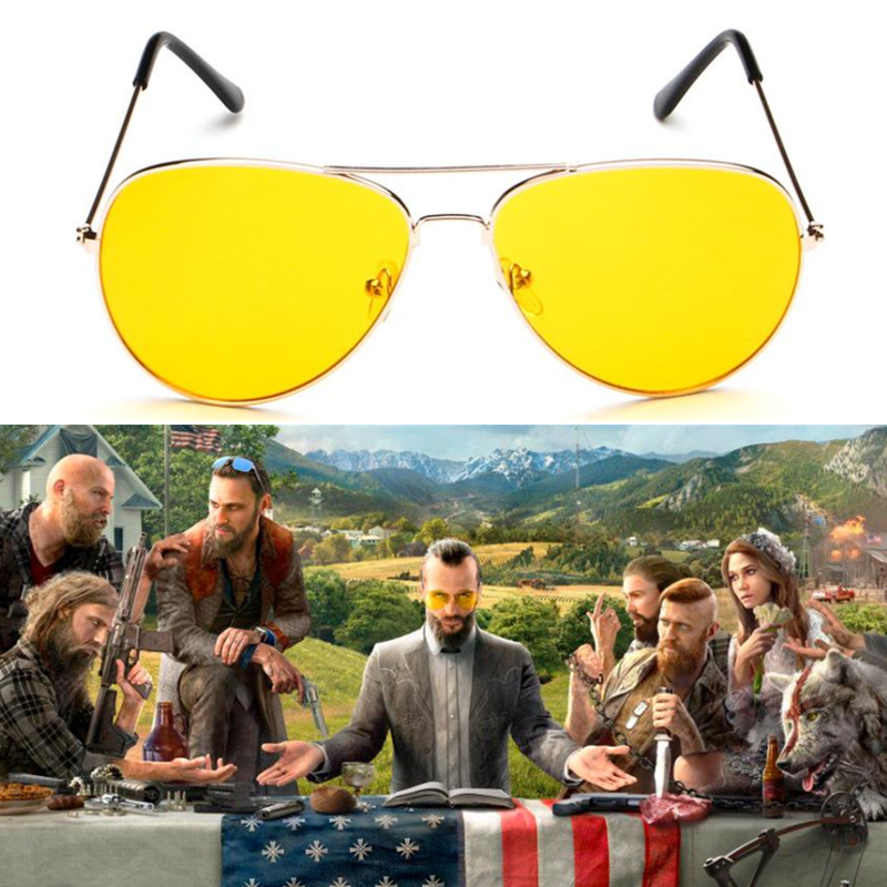 Game FAR CRY 5 Cosplay Prop Sunglasses Joseph Seed EyeWear Glasses image
