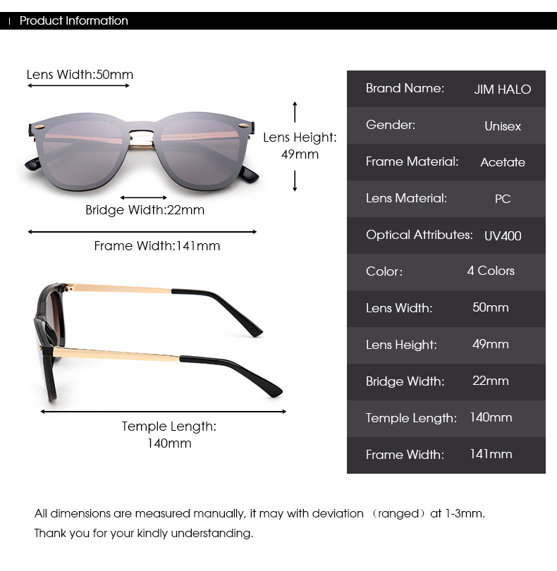 Cœur Clair Men Women Wayfarer Mirrored Reflective Sunglasses