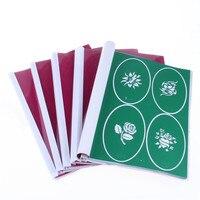 Fénix de oro 1 Libro Temporal Del Aerógrafo Tatuaje Plantilla de la Plantilla Para Cuerpo de Arte Pintura 26 Libros (2523 Diseños) puede Ser Elegido