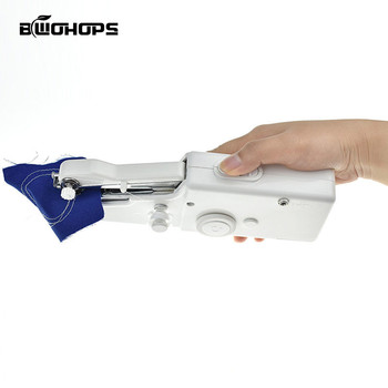 Overlock Sewing Machine Mini Portable Electric Handheld Sewing Machine Stitch Set Household Clothes Fabric Handheld Sewing Tool maquina de coser de mano