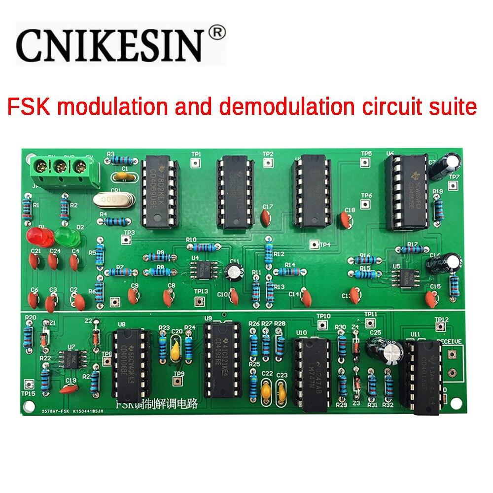 CNIKESIN Diy kit FSK Modulation and Demodulation Circuit Kit