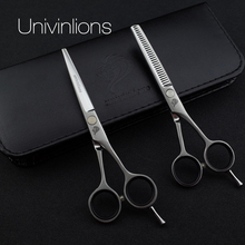 Univin 5.5 Hair Scissor Set With Bag Cloth Comb Clip Cut Barber Razor Shear and Thinning