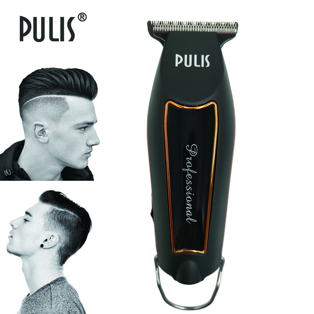 PULIS Professional Precision Hair Clipper Electric Hair Trimmer 100-240V Rechargeable Bald Head Shaving Machine Home Barber Tool