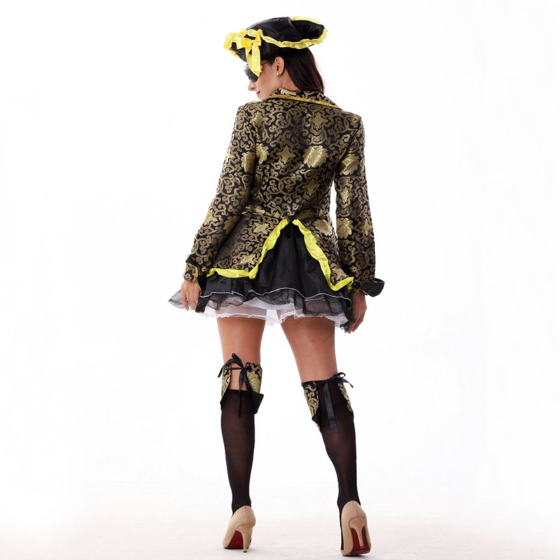 Free shipping European and American movies pirate adut Halloween costumes pirates cosplay costume dress for women in Movie TV costumes from Novelty Special Use