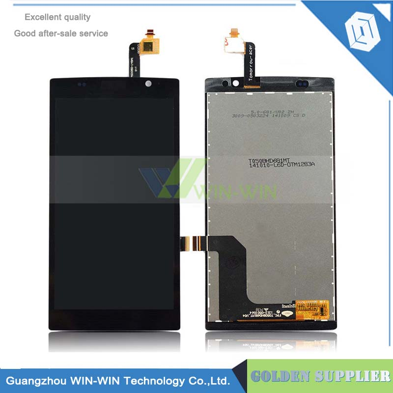 100% tested free shipping New LCD Display With Touch Screen Digitizer Assembly For Acer Liquid Z500 With Tracking No 100% tested new lcd screen for jiayu s1 lcd display digitizer touch screen assembly black free shipping