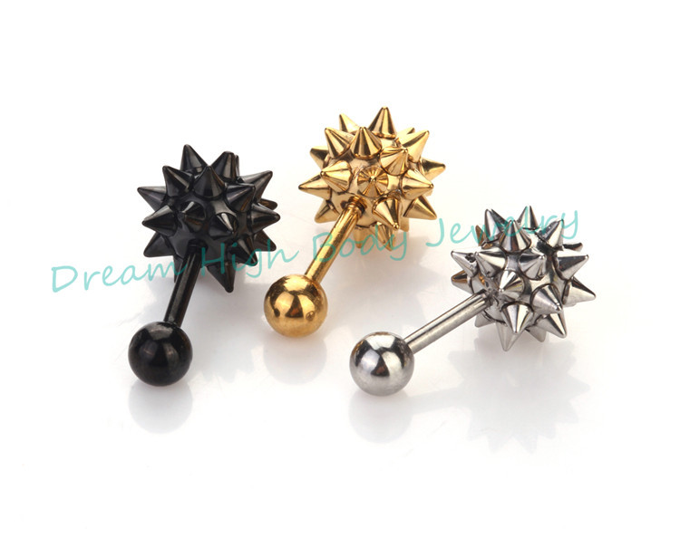 Newest Cone Hammer Stud Earring Ear Nail ring Men Jewelry Cool Hot Sale Popular earrings for women gold earrings