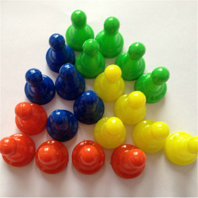 48 Pieces/pack Plastic Chess Pawn Pieces Card Board Games Chess Parts Accessories Children Kids Toys 2.3*1.9cm