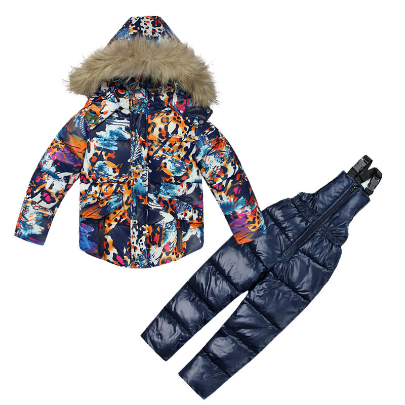 Childrens Winter Jackets for Boy Warm Coat Pants Toddler Snowsuit Outerwear Ski Clothing Set Russian Cotton-padded JacketChildrens Winter Jackets for Boy Warm Coat Pants Toddler Snowsuit Outerwear Ski Clothing Set Russian Cotton-padded Jacket