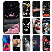 Ojeleye Fashion Black Silicon Case For Meizu M8 Cases Anti-knock Phone Cover V8 Pro Covers