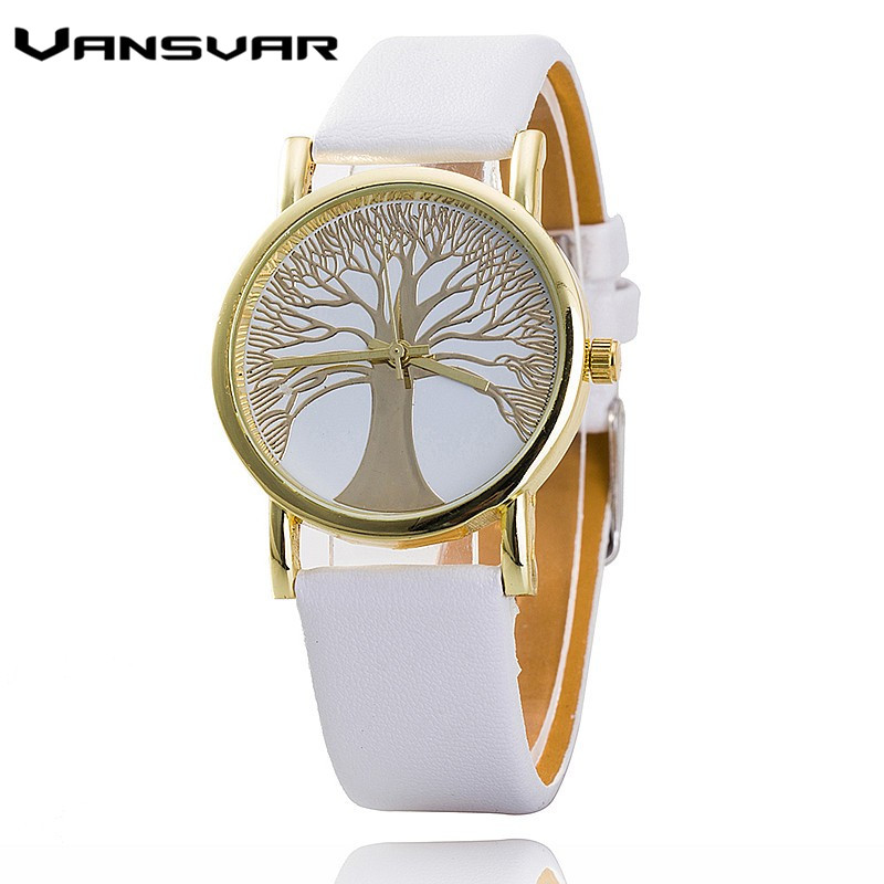 in wrist world life leather best watches casual gold product fashion women of the watchs clocks hot selling strap tree from quartz
