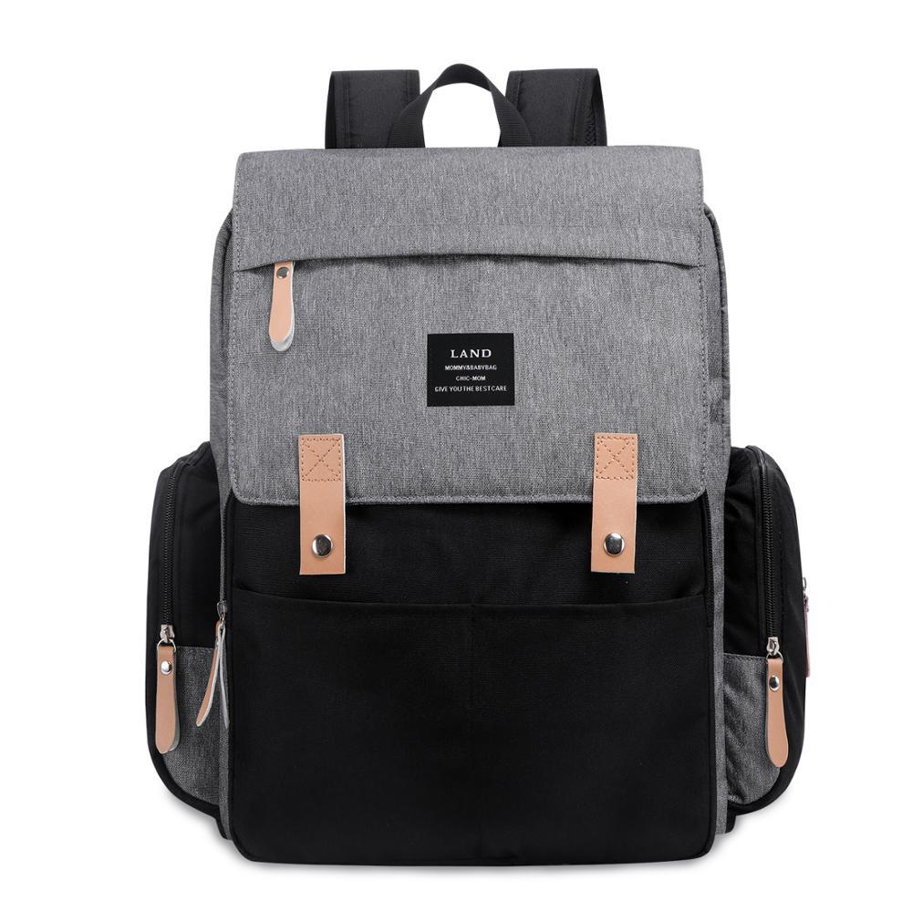 Land Large Capacity Baby Diaper Bag Backpack Waterproof Travel Nappy Bag Nursing Mommy Mom Maternity Bag For Stroller Organizer