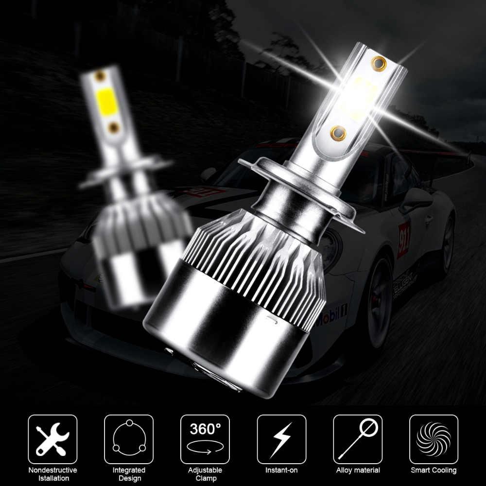 2x h7 canbus cob carro faróis led lâmpada alta baixa feixe 3600lm 72 w para mercedes benz w211 w210 w124 w212 w204 w203 w205 w220 w221