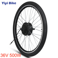 36V 500W Electric Bike Rear Front Motor Wheel 35km/h 16 20 24 26 27.5 28 29 inch 700C With Tire Hub Motor Bicycle Cycling 35km/h