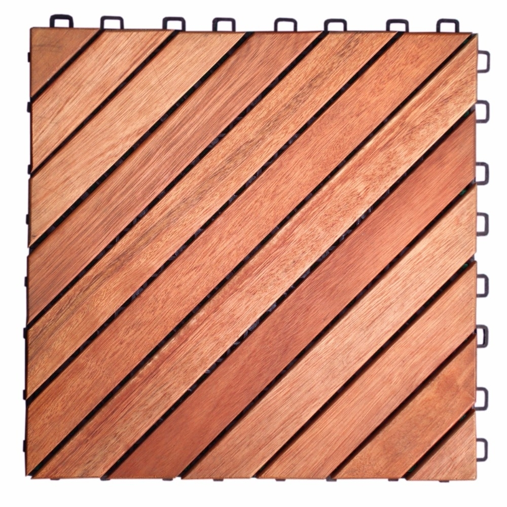 12 Diagonal Slat Eucalyptus Interlocking Deck Tile ecosystem ecology