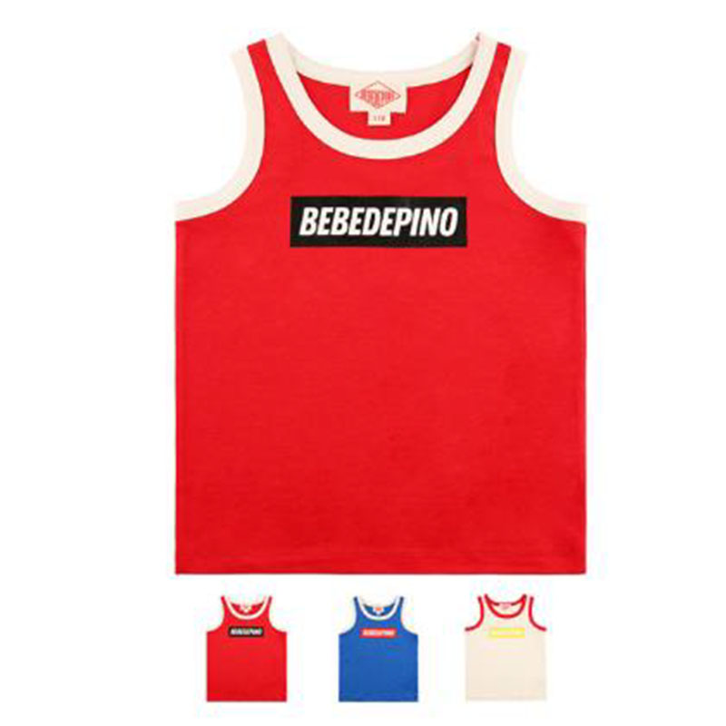 Vest Korean Tops T-Shirt Active-Style Girls Boys Fashionable Summer for And Bebe Children