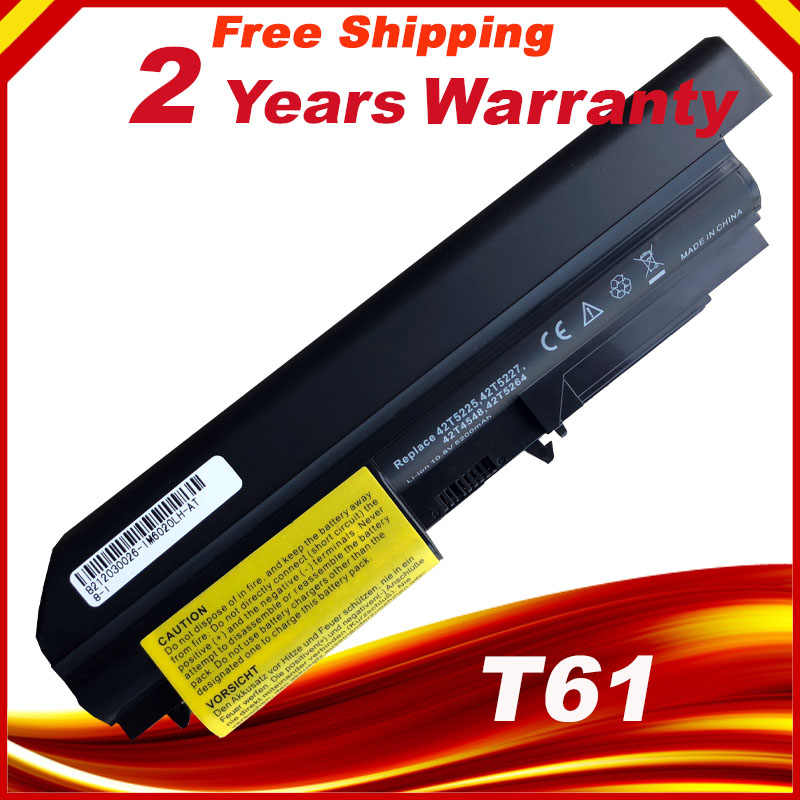 New 6 cells Laptop battery For Lenovo ThinkPad R61 T61 R61i R61e (14.1-inch Wide sscreen)    For ThinkPad R400 T400 Series