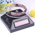 New Black Solar Rotary Table Jewelry Display Bracelet Stand Bangle Holder Watch Rack Necklace Pendants Shelf Free Shipping