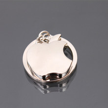 1pcs Metal Apple Key Chain Creative Best Gifts Apple Keychain Key Ring Trinket for Men Women Accept Logo llaveros Free Shipping