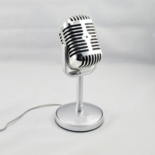 цена на Vintage Style Microphone Studio Wired Classic Retro Condenser Microphone with Stand Professional KTV MIC for Computer Laptop