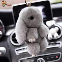 """Premium Quality Super Soft Fluffy Adorable Plush Rabbit Stuffed Bunny Animal Small Pendant Hanging Toy 13cm/5"""" Height Gift"""