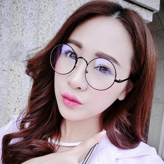 7fd25f46d89 2017 Vintage Round Sunglasses Men women Retro Metal Frame Eyeglasses Korean Glasses  Optical Circle Frame Plain Mirror Eyewears