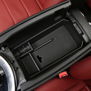 Image 2 - Cardimanson Car Organizer for Mercedes Benz C GLC Class W205 X253 2015+ Central Armrest Storage Box Container Tray Car Styling