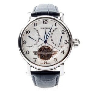 Image 3 - Seagull volant de roue rétro, Date 40 heures, réserve de puissance 40 heures, Guilloche exposition, automatique montre pour hommes 819.317